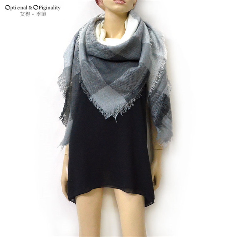 Winter Blanket Oversized Tartan Scarf Wrap Shawl Plaid Cozy Checked Pashmina Women Hot for birthday gift more styles wholesale