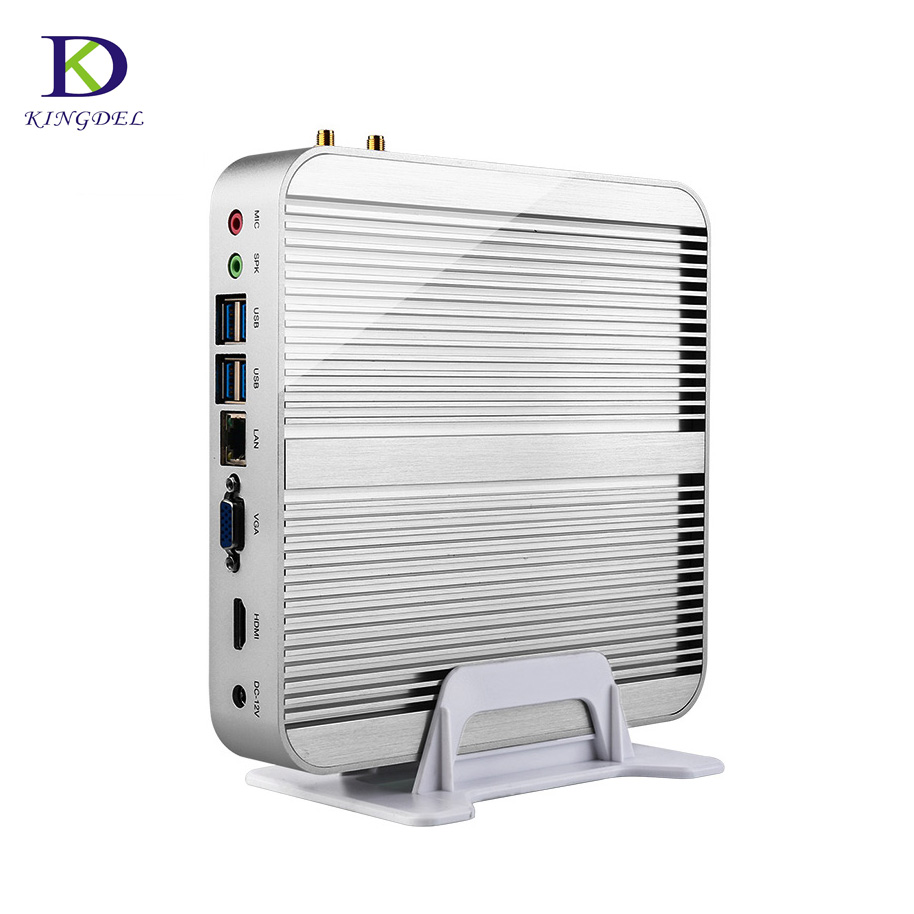 Kingdel NC340 Business Barebone Computer Fanless Mini PC with Intel Core i3 6100U i5 6200U i7