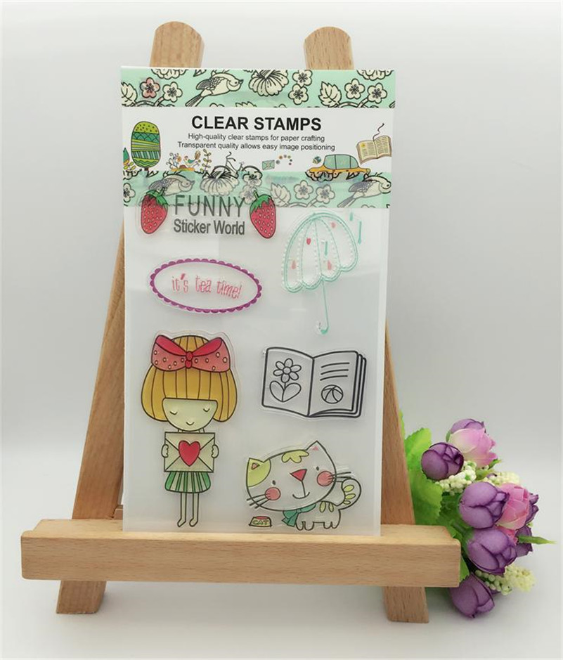 it is tea time christmas Transparent Clear Silicone Stamp Seal for DIY scrapbooking photo album clear stamp wedding giftCL-276 lovely animals and ballon design transparent clear silicone stamp for diy scrapbooking photo album clear stamp cl 278