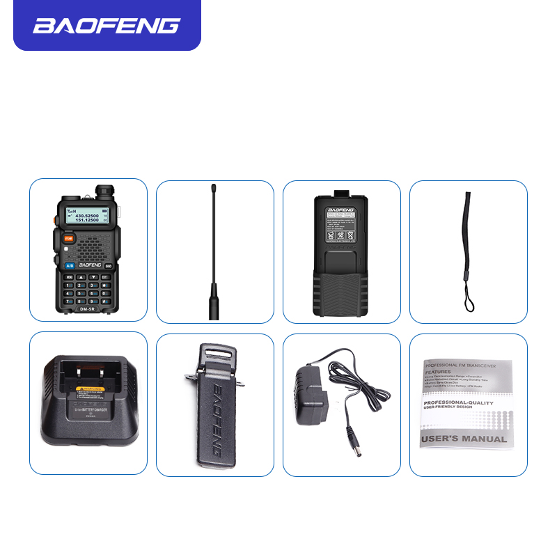Image 5 - Baofeng DMR 5R Ham Amateur Two Way Radio VHF/UHF Dual Band Dual Time Slot Walkie Talkie 1024 CH Tier I & II Compatible with MOTO-in Walkie Talkie from Cellphones & Telecommunications
