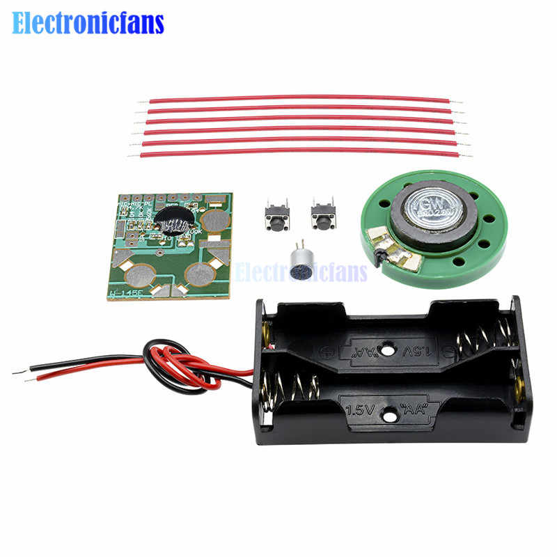 6S Digital Recording Voice IC Chip Sound Module Movement Recorder Record Pen Talking Music Greeting Card Gifts DIY Kit 3-4.5V