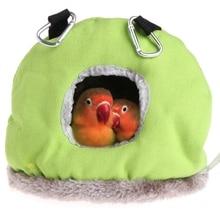 Новое гнездо для попугая плюшевый теплый зимний гамак животное птица Висячие качели кровать пещера 3 размера