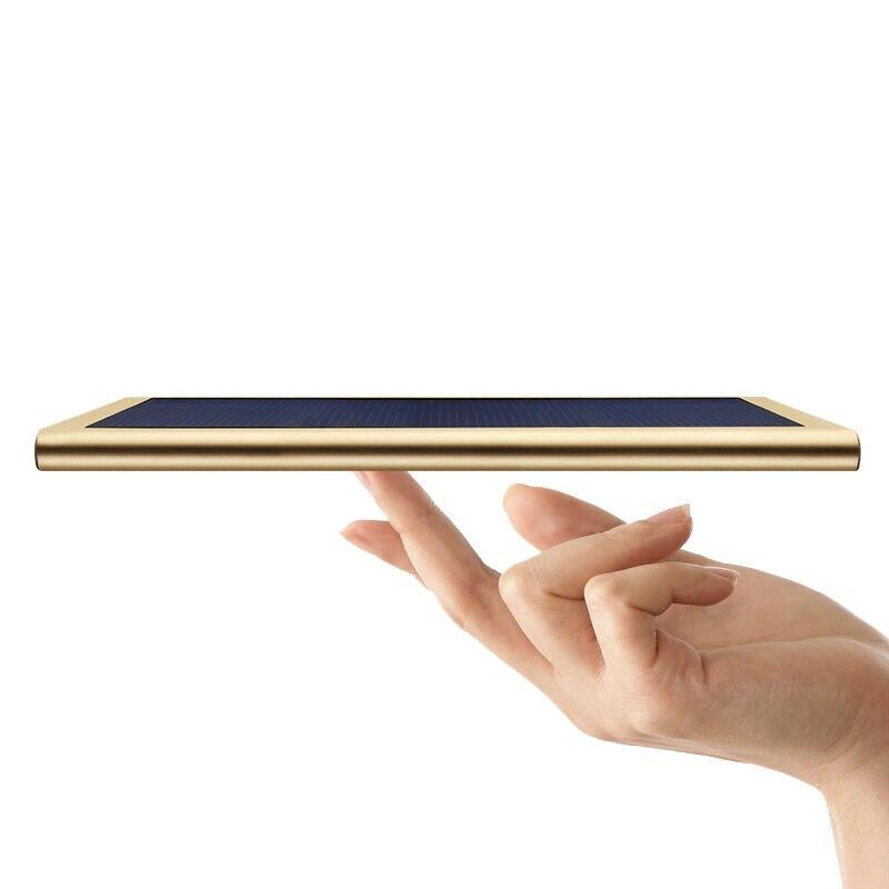 imágenes para Yoteen 10000 mah banco móvil de la energía solar cargador solar para el iphone 7 samsung s6 s7 edge solar banco de la energía externa móvil Powerbank
