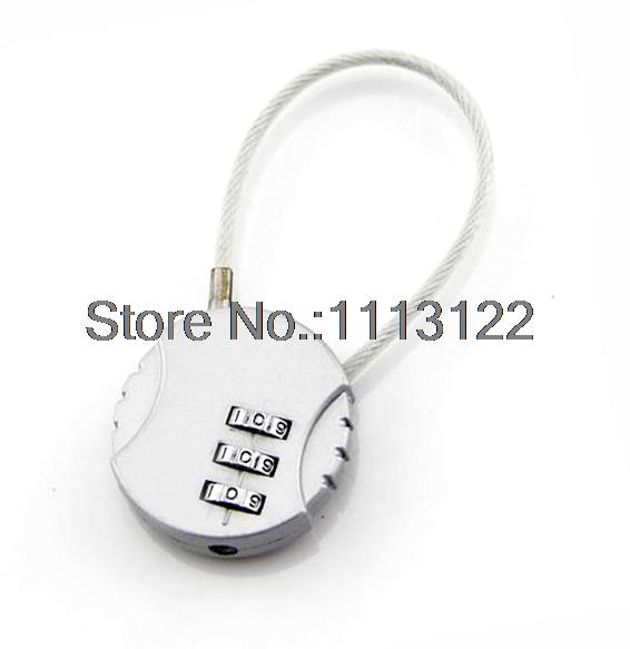 Steel Wire Combination Lock 3 Digit Password Lock Luggage Lock for ...