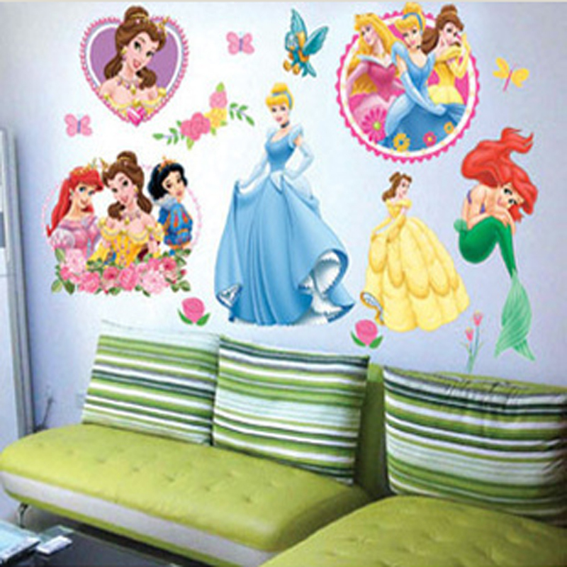 Buy princess home decor art wall stickers for kids rooms child love diy family for Stickers para dormitorios