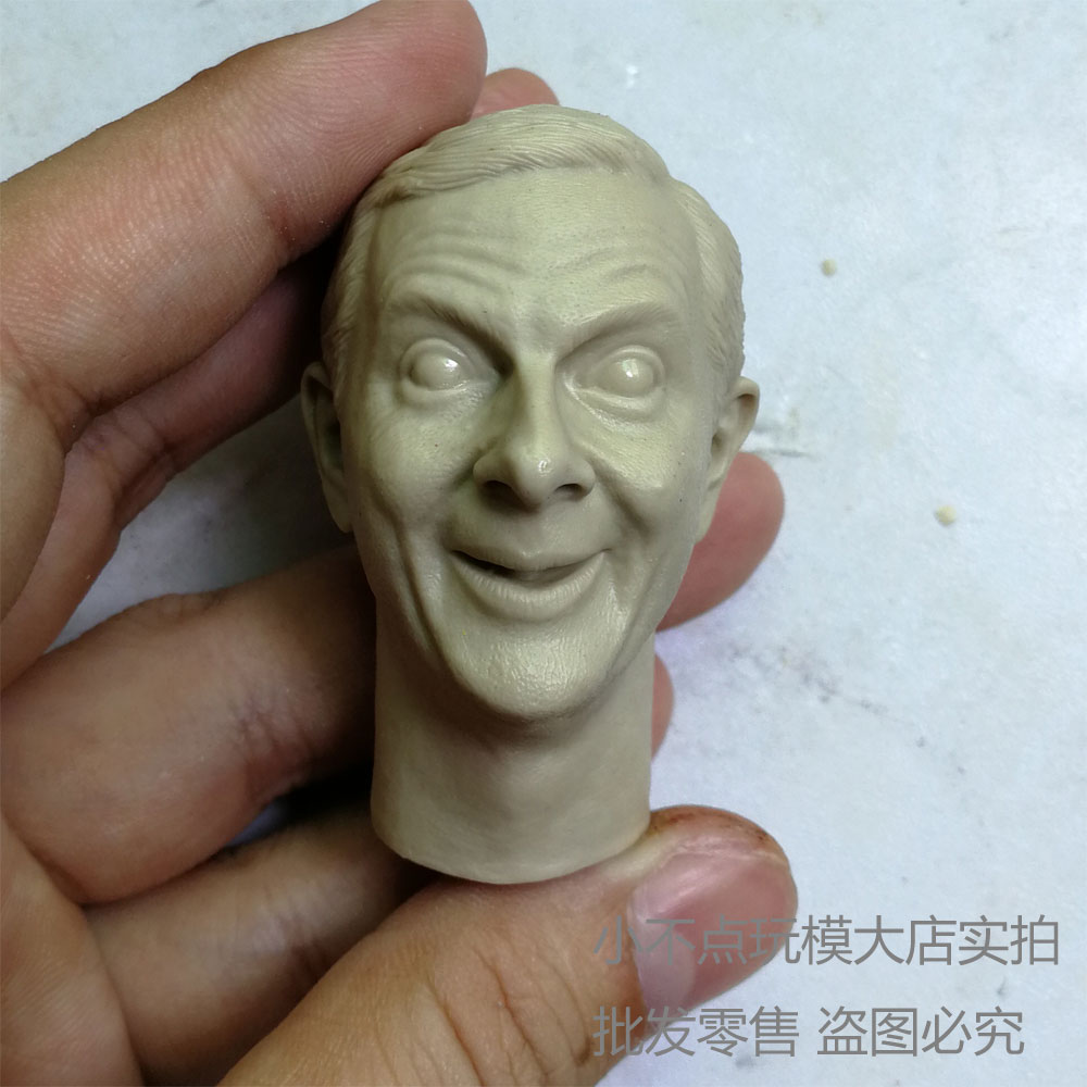 Blank Hot 1//6 Scale Smile Version Mr Bean Head Sculpt Unpainted
