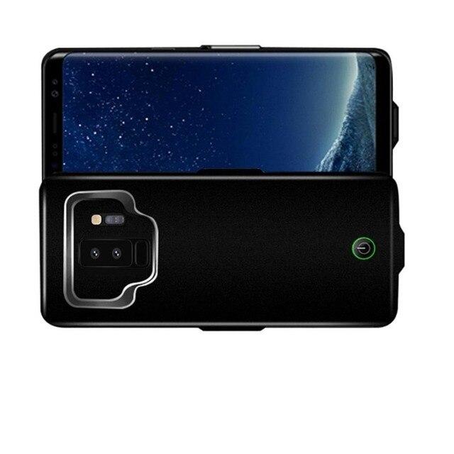 Pour Galaxy S9 plus étuis de banque de secours portables externes 7000mAh Powerbank chargeur de batterie boucle étui de serrage couverture livraison gratuite