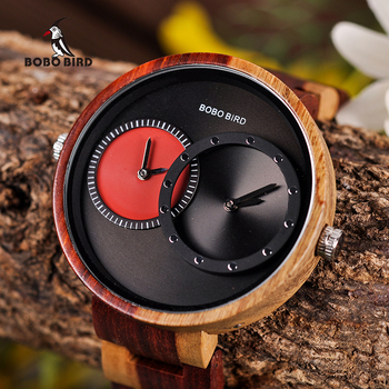 Деревянные часы BOBO BIRD для мужчин и женщин с несколькими временными зонами, модные стильные деревянные наручные часы, часы для мужчин и женщи...