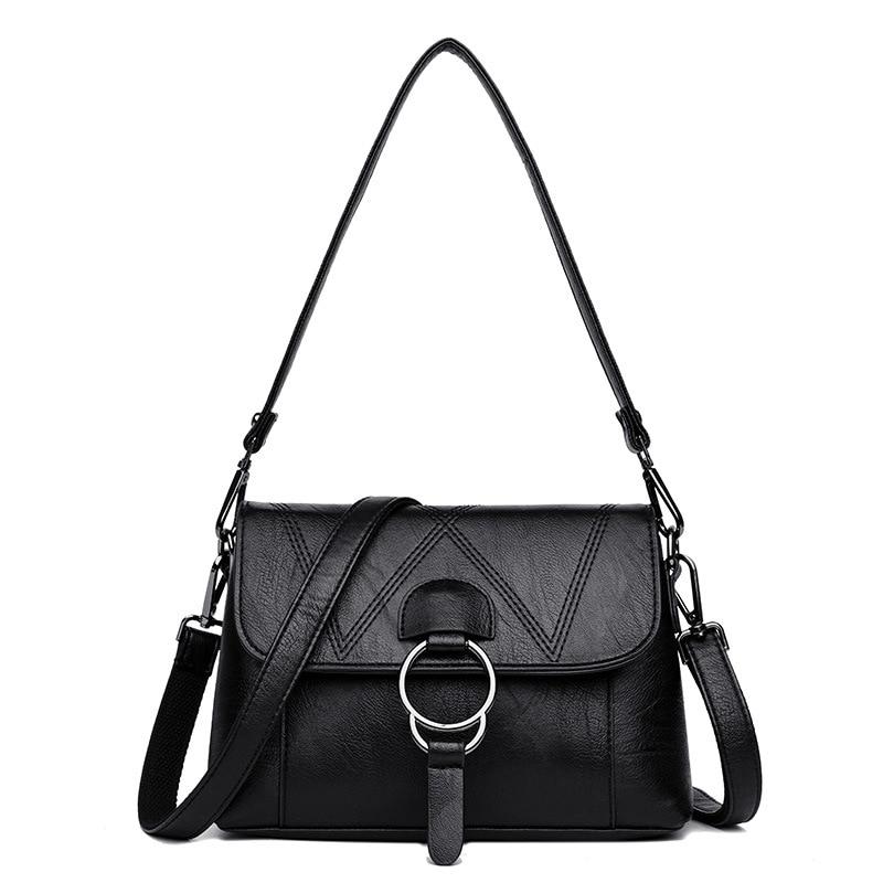 Elegant Leather Handbags Designer Luxury Bags for Women 2019 Women Crossbody Shoulder Bag Ladies Hand Bags Flap Sac A Main Femme in Shoulder Bags from Luggage Bags