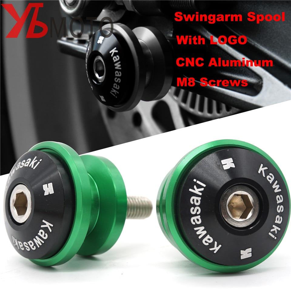 Color : Black MUJUN 8MM Swingarm Spool Slider Stand Screws Motorcycle Accessories for Kawasaki Z650 Z800 Z900 Z1000 Z1000SX for NINJA 650 ZX6R ZX10R