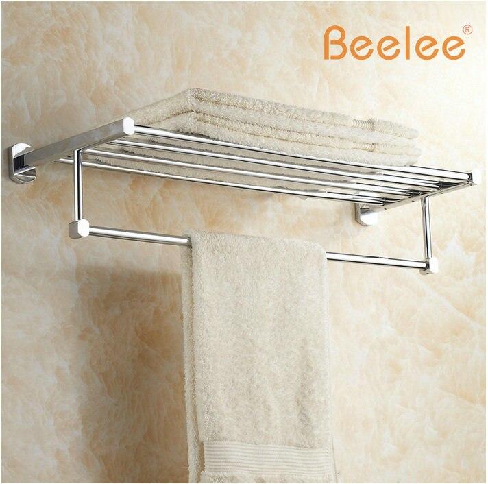 Beelee BL6503C 60CM Brass Wall Mounted Bathroom Towel Rack/Holder ...