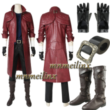 MNMEILINX Game DMC Devil May Cry 5 Dante Cosplay Costume Boots Halloween Deluxe