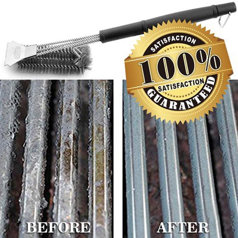 Barbecue Grill BBQ brosse outil propre acier inoxydable fil poils diamètre acier inoxydable rond Tube Tube brosse de nettoyage