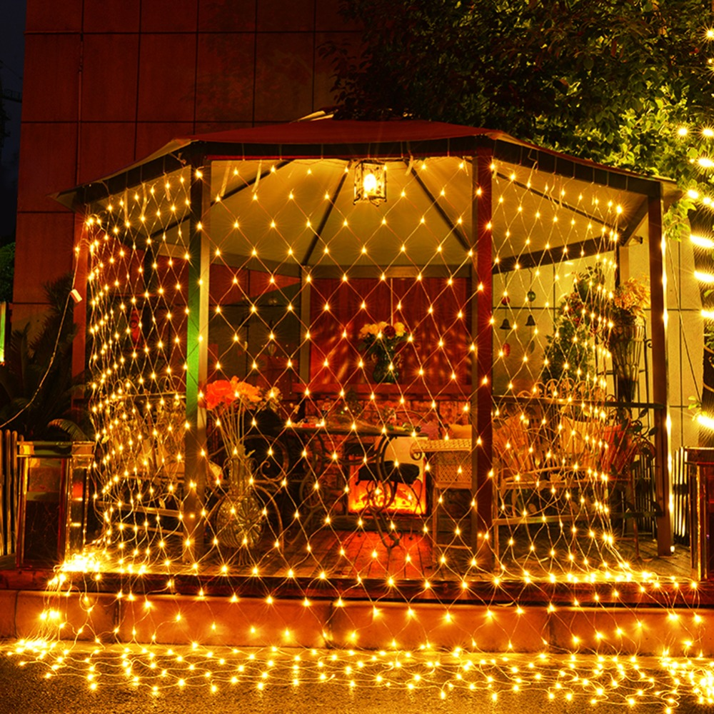 Fishnet LED Light Christmas Decorations For Home Lights ... on Patio Lights Decorating Ideas id=14706