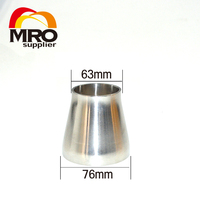 76mm To 63mm 3 To 2 5 Sanitary Weld Reducer Pipe Fittings SS304 Stainless Steel Weld