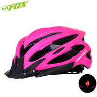 Bicycle Helmets Matte Pink Women Bike Helmet Back Light Mountain Road Bike Integrally Molded Outdoor Protection