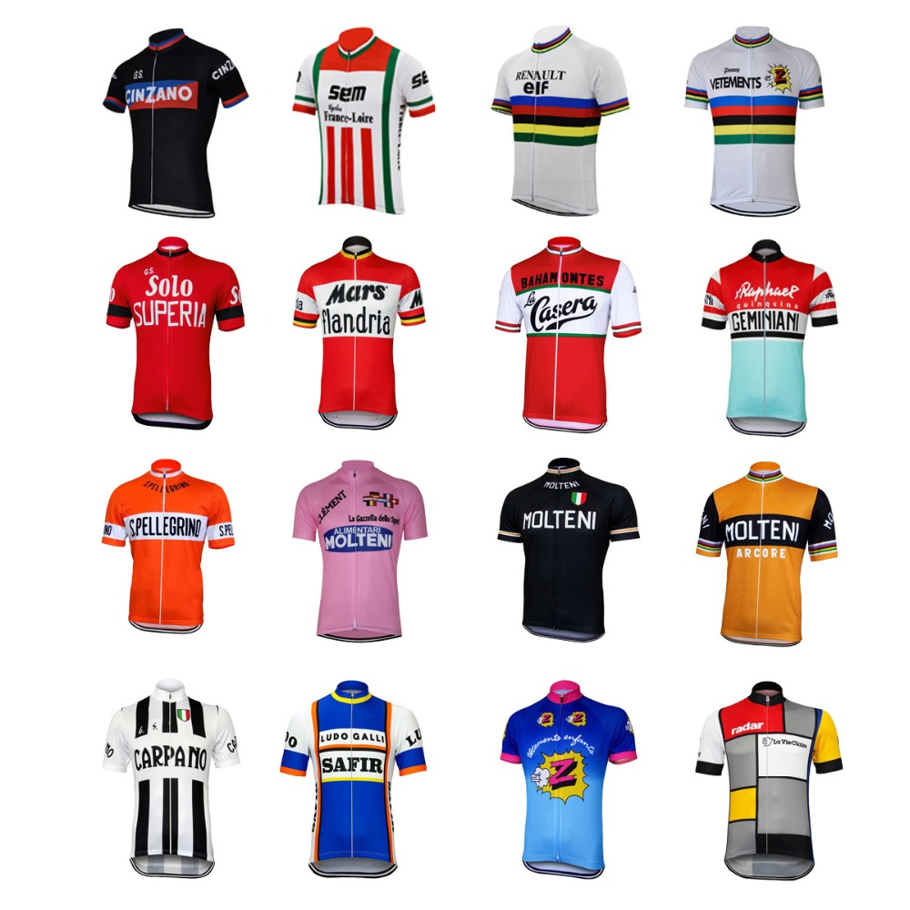 Retro Jerseys 16 Style Retro Cycling Jerseys Summer Short Sleeve Bike Wear Red White Pink Black Jersey Road Jersey Cycling Clothing Braetan On Aliexpress