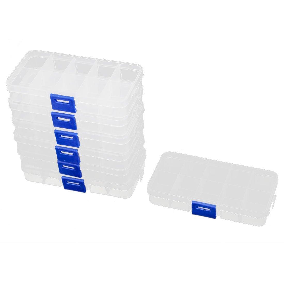 Практичный бутик 7 шт. Пластик 10 разделов ювелирные изделия Шурупы таблетки держатель для хранения Box Clear