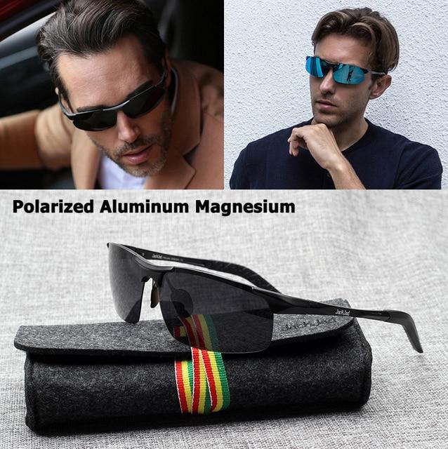 fb4db060e5e00 JackJad JJ8177 aluminio magnesio polarizado estilo aviación gafas De Sol  hombres clásico conducción marca De diseño