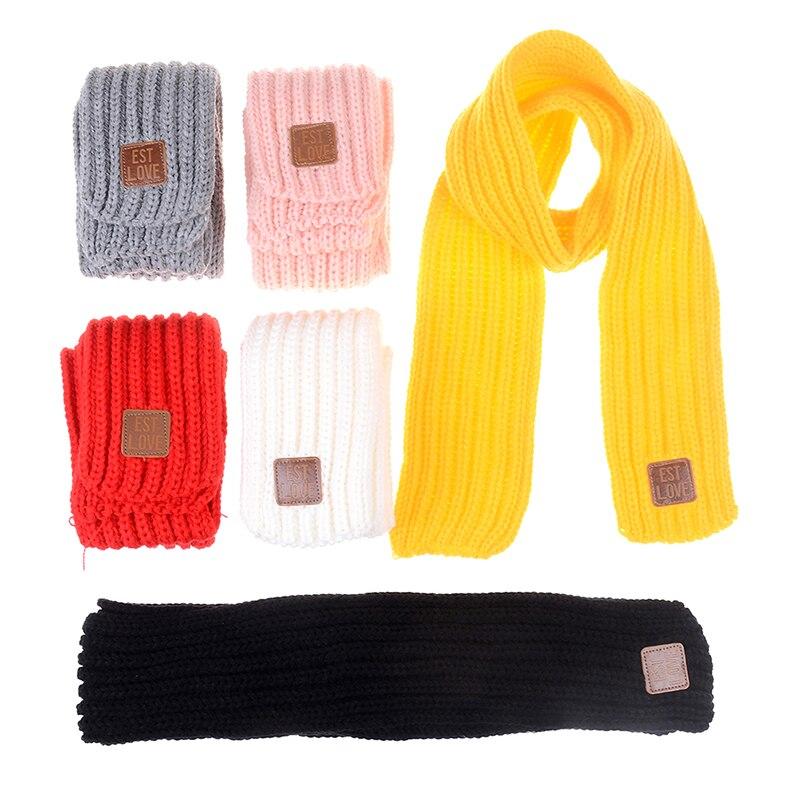 Mode Reizende Nette Kinder Herbst Winter Jungen Mädchen Baby Kind Feste Schal Warme Gestrickte Schals Frauen Schal
