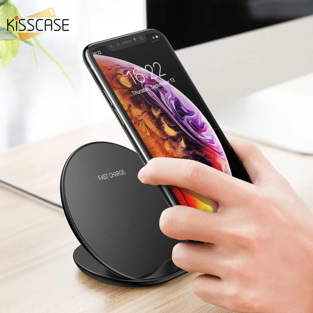 KISSCASE Qi Wireless Charger For Apple Watch 4 3 2 New Model Fast Wireless Charger For iPhone XS XR X 8 Plus For Samsung S9 S8  KISSCASE Qi Wireless Charger For Apple Watch 4 3 2 New Model Fast Wireless Charger For iPhone XS XR X 8 Plus For Samsung S9 S8