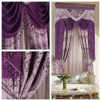Purple extreme quality the blind Fashion classical quality dodechedron shade cloth flower curtain customize Blinds the tulle