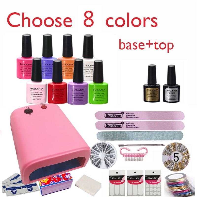 Burano New Arrival Hot Sale Soak off Gel polish gel nail kit nail art tools sets