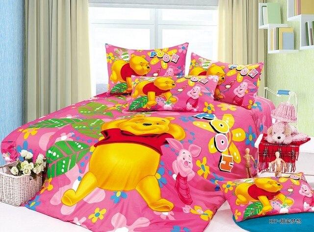 Lenzuola Winnie The Pooh.Us 56 69 19 Di Sconto Winnie The Pooh Piglet Set Di Biancheria Da Letto Singola Doppia Dimensione Copriletto Copripiumini Lenzuola Di Cotone 400tc