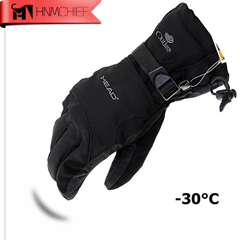 2017 New Men's Ski Gloves Snowboard Gloves Snowmobile Motorcycle Riding Winter Gloves Windproof Waterproof Unisex Snow Gloves(China)