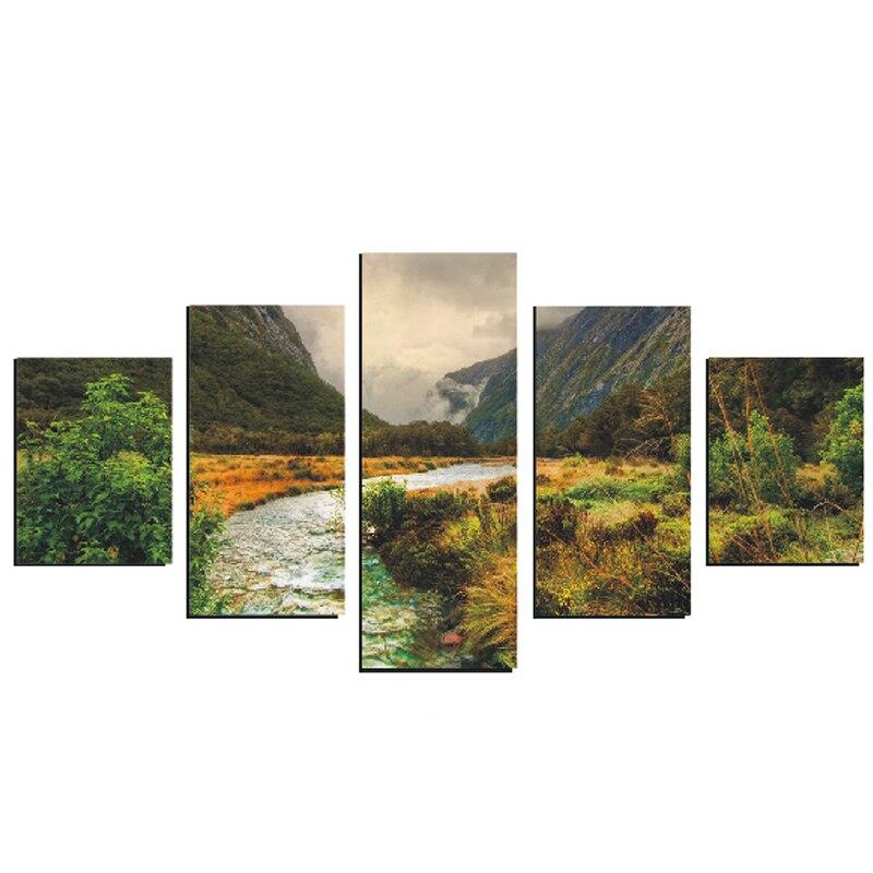 7f2fbb3b3 Imágenes de La pared Pintura Varios Estilos Para la Sala 5 Panel Decorativo  HD Impresión De La Lona Pinturas de Arte Cuadro Cuadros Modernos en Pintura  y ...