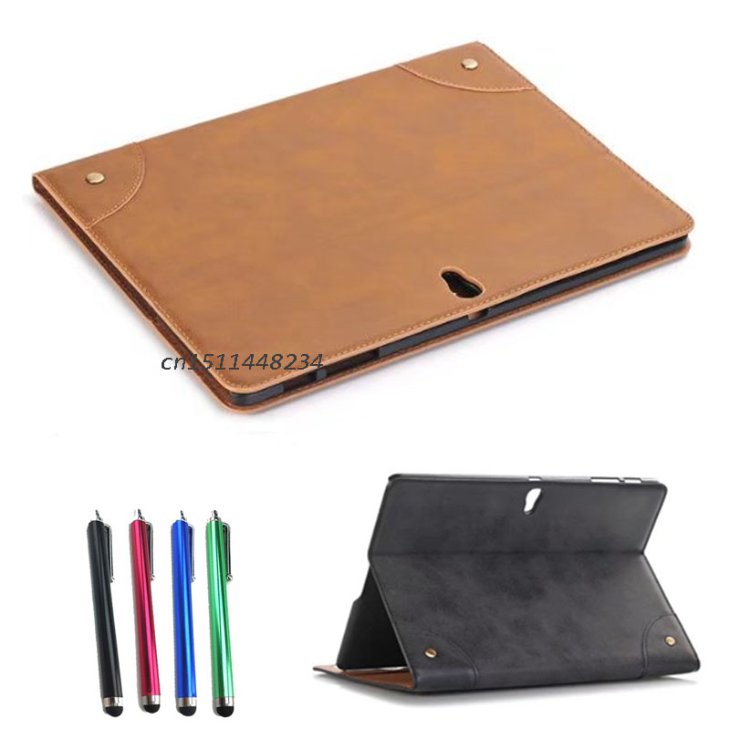2017 New! For Samsung Galaxy Tab S 10.5 SM-T800 T805C case, smart book cover, Business Tablet pu Leather Case, Stand Fundas+pen аксессуар чехол samsung galaxy tab a 7 sm t285 sm t280 it baggage мультистенд black itssgta74 1
