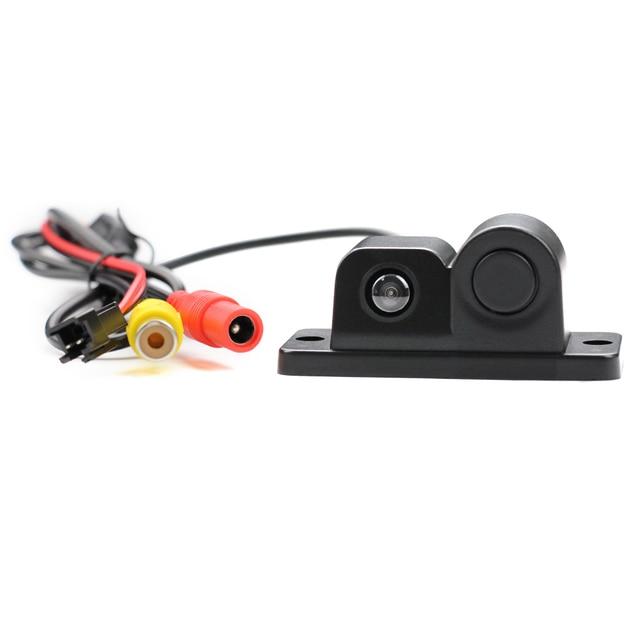 2019 Parktronic Eunavi 2 en 1 capteurs de stationnement de voiture caméra de recul de vue arrière universelle haute nuit claire pour Radar de recul de Vision