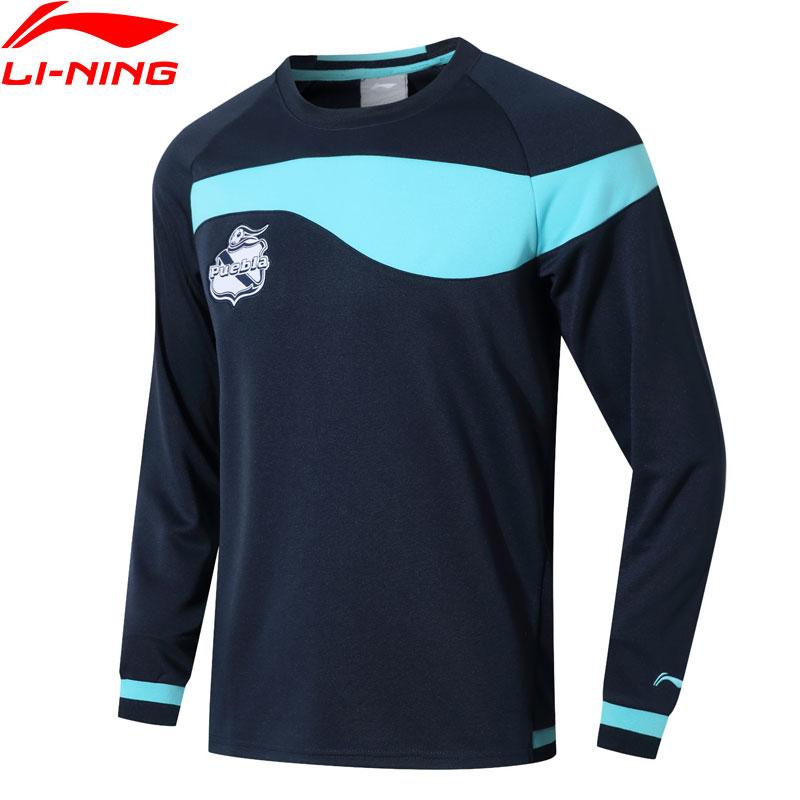 Li-Ning Men Puebla Club Sweatshirt Regular Fit Hit-color Logo Hodie LiNing Comfort Sports Tops Pullovers AWDN129 MWW1588