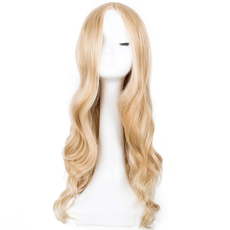 Lonque Perruque Synthétique Bouclés Blonde