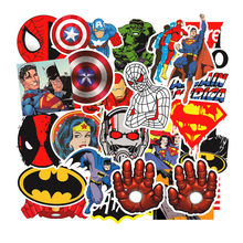 50PCS Anime Super Hero Stickers Marvel DC Suitcase Trolley Case Stickers Superman Batman Graffiti Sticker for Skateboard Luggage(China)