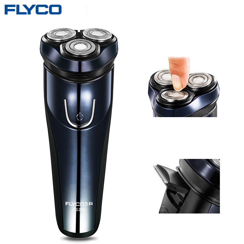 Flyco Electric Shaver Flex Razor Head 3 Dry Wet Shaving Washable Main Sub Dual Blade Turbo+ Mode Comfy Clean capacity