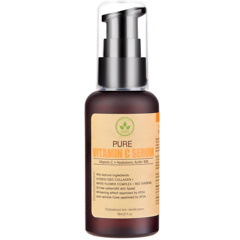 Beste Korea Kosmetik Purito Reines Vitamin C Serum 60 Ml Gesicht Nature Republik Ori Creme Anti Falten Akne Pickel Behandlung Schwarz Kopf Entferner In