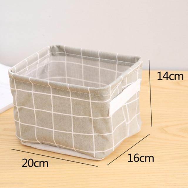 DIY Desktop Storage Basket Sundries Underwear Toy Box Cosmetic Book Organizer Stationery Container Laundry 5