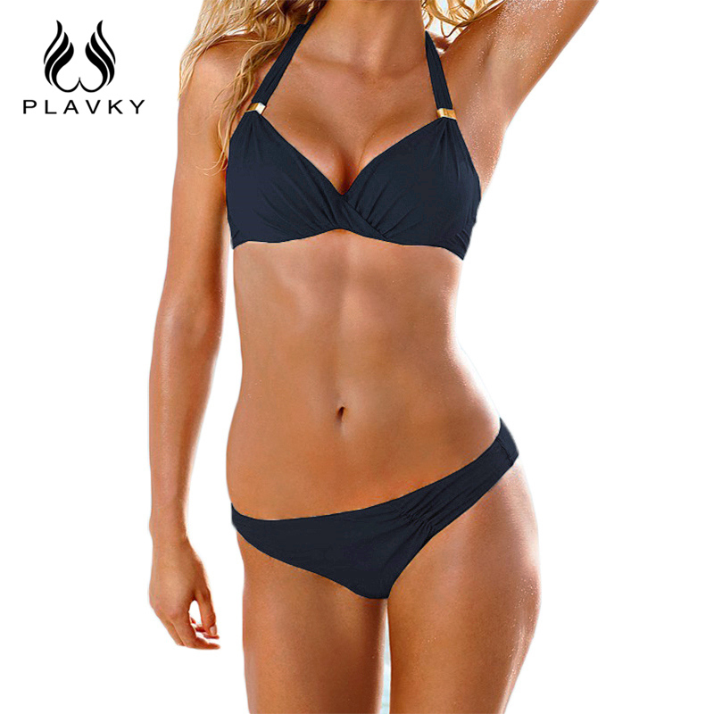 9988ece0a1 2017 Summer Sexy Micro Push Up Biquini Plus Size Swim Bathing Suit Female  Swimwear Push-