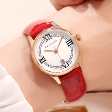 купить Relogio Feminino FERNWEH Women Quartz Watches Waterproof Top Brand Luxury Watch Women  Leather Strap Relojes Para Mujer по цене 1467.07 рублей