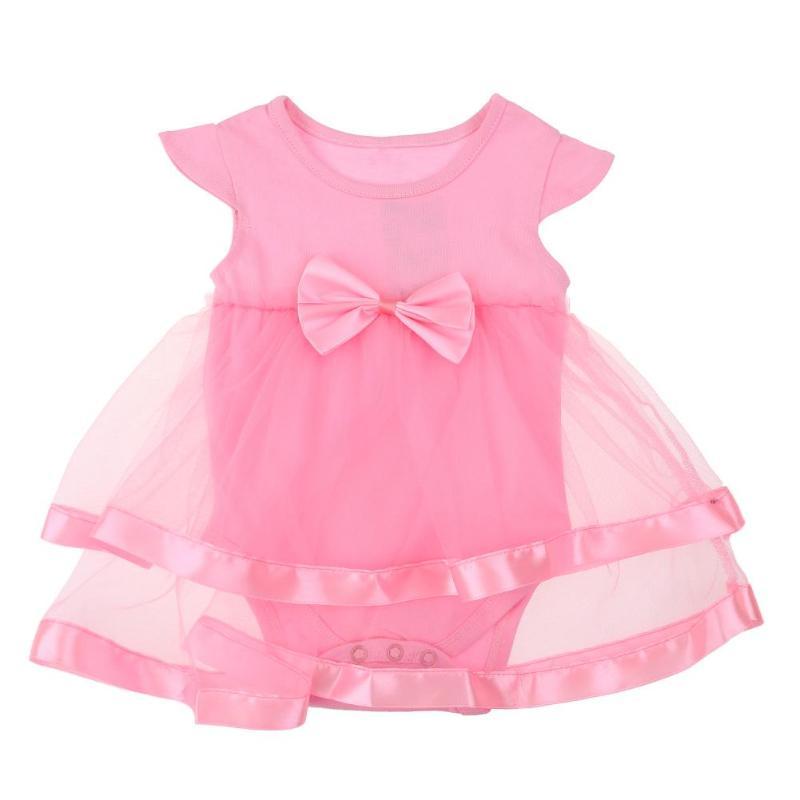 Summer Girls Tutu Dress Infant Baby Casual Bowknot Gauze Party Birthday Romper Dress Nebworn Girls Sleeveless Ball Gown Vestidos