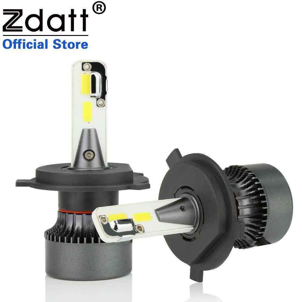 Zdatt COB H4 H1 H8 H11 9005 HB3 9006 HB4 Auto Headlights Bulb 80W 8000LM Led Bulb Car Led Moto Light 12V Automobiles 6000K