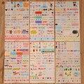 Nueva Encantadora Linda 6 Hoja de Pegatinas para el Diario De Papel Libro Libro de Recuerdos Decoración de La Pared para la decoración * pegatinas de Dibujos Animados