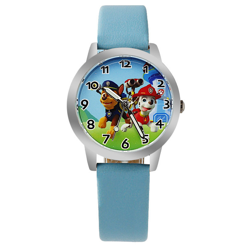 2017 Fashion Children Watch For Boy Leather Strap Wristwatch Student Casual Quartz Watch For Boy.Kid Lovely Cartoon Watch Cloc