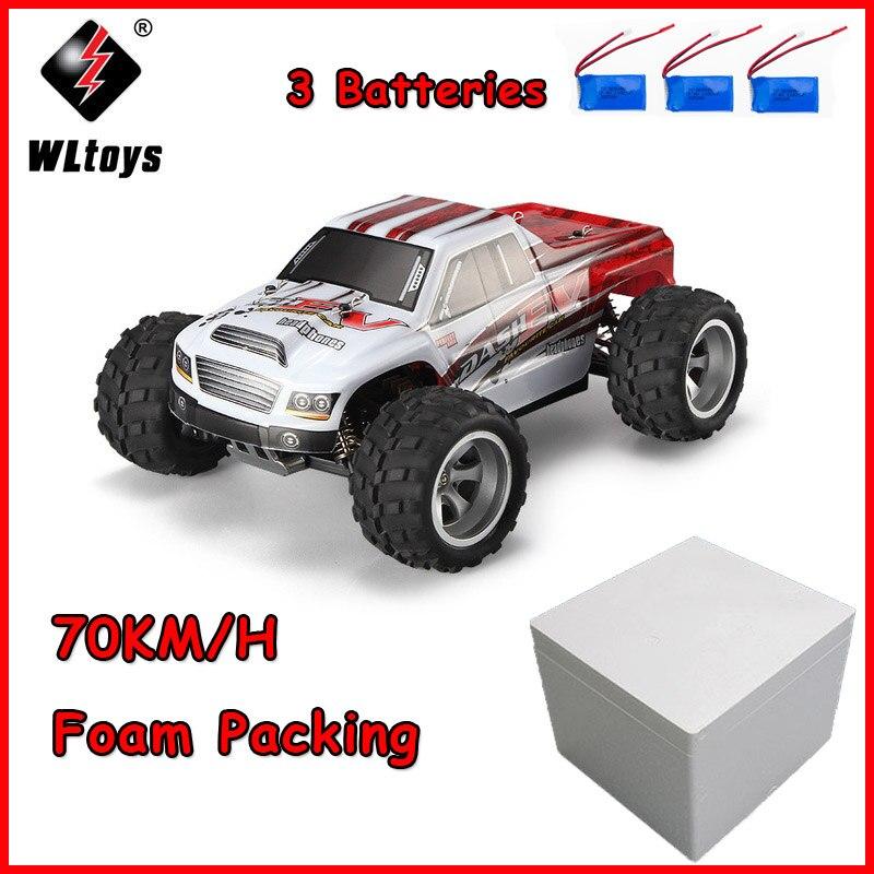 WLtoys 70 A979-B KMH Carro RC 2.4GHz 1/18 Escala Proporcional Completa 4WD Alta Velocidade Motor Elétrico Escovado RTR Remoto controle Do Carro