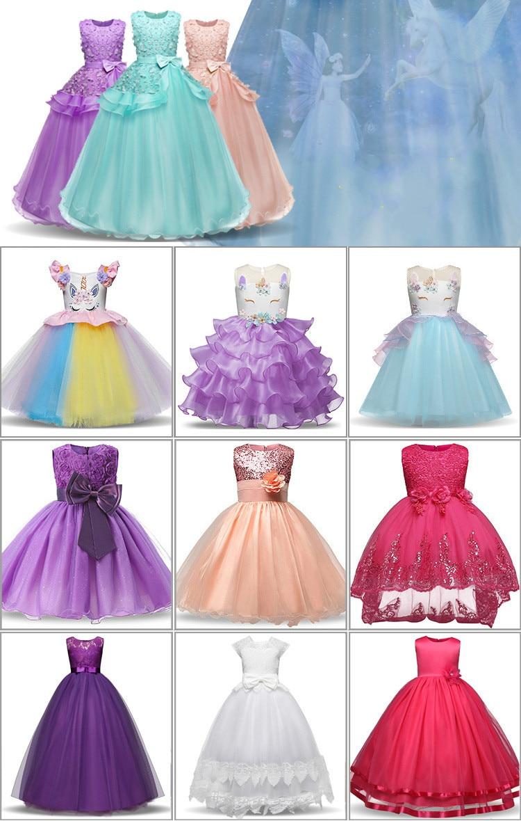 Princess Girls Dress SkirtChildren New Noble Shows Long-sleeved Dress A Word Shoulder Trailing Skirts