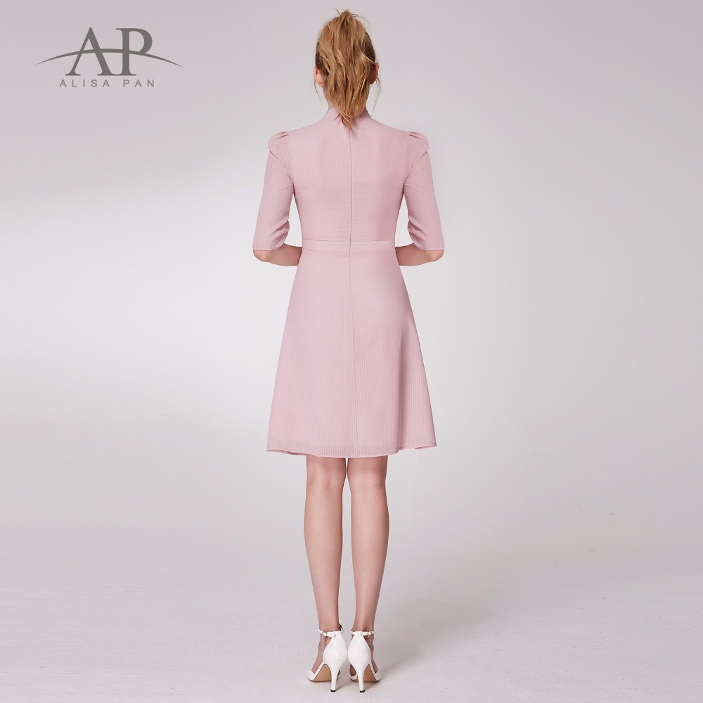 9bd454f818596 Autumn 2018 Pink Dress Women Vintage Casual Dress A Line Elegant ...