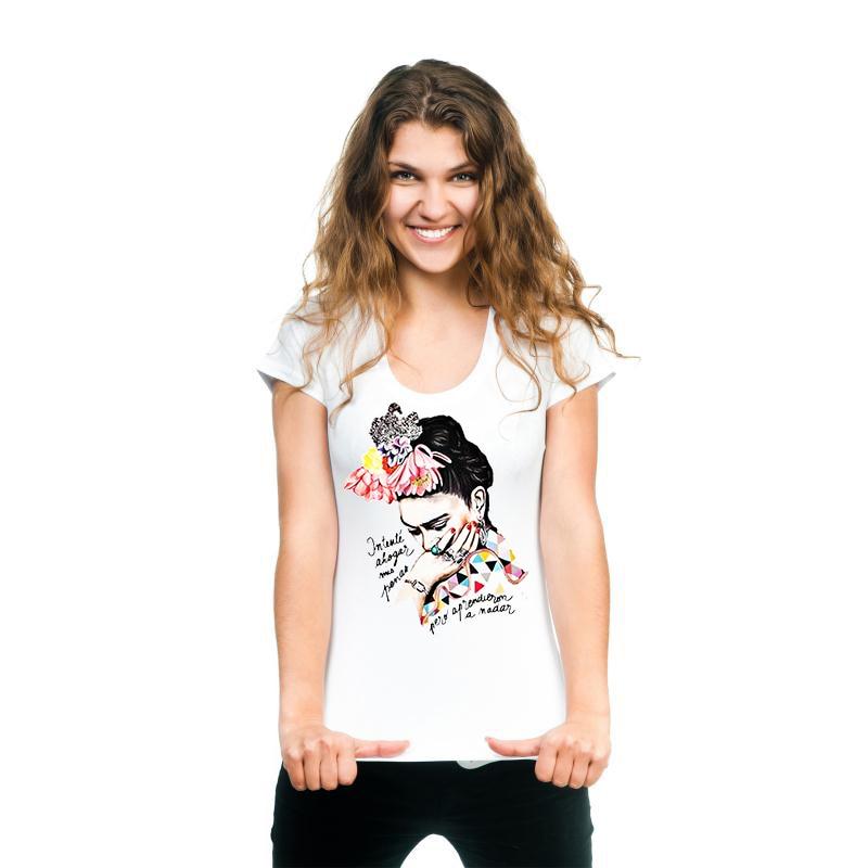 2633fd8f4ae HETUAF esqueleto Halloween T camisa mujeres cráneo Punk Rock, escape, Sin  City, blanco