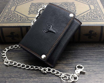 Trifold Wallet w/ Metal Chain  1