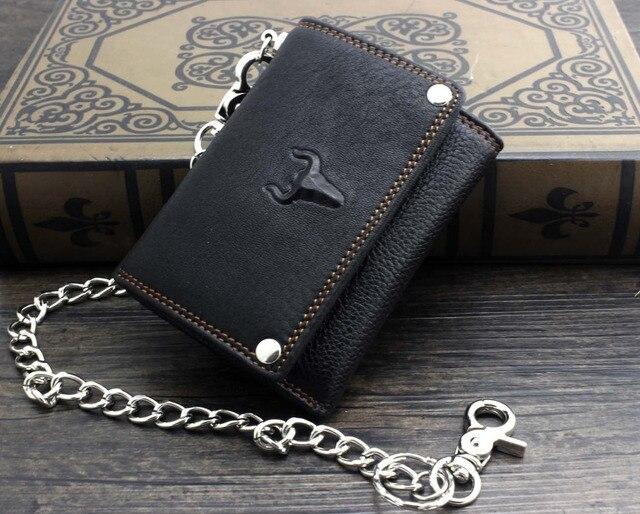 Trifold Wallet w/ Metal Chain  1